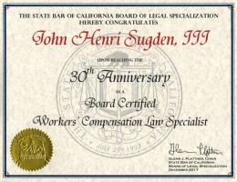 30th Anniversary Board Certification